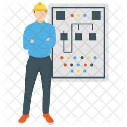 Electrical Engineer Icon of Flat style - Available in SVG