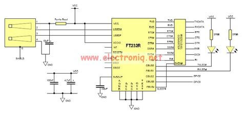 USB to Serial RS232 adapter circuit design electronic project