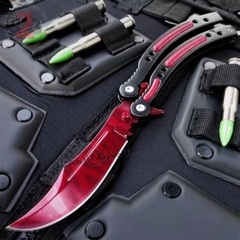 CSGO Red Slaughter Butterfly Knife TRAINER Dull PRACTICE
