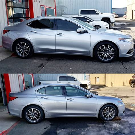 2017 Acura TLX before and after TINT! Looking fresh! #