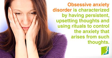 Obsessive Anxiety Disorder in Middle Aged Women