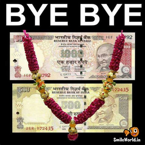 500 and 1000 Rupee Notes Funny Images for Facebook