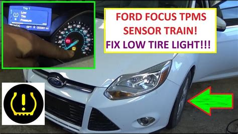 How to Train TPMS Tire Pressure Sensors on Ford Focus MK3
