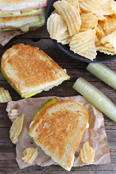 Dill Pickle Wrap Grilled Cheese | Two Peas & Their Pod