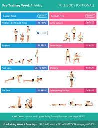 Image result for pre training week 4 monday | Kayla